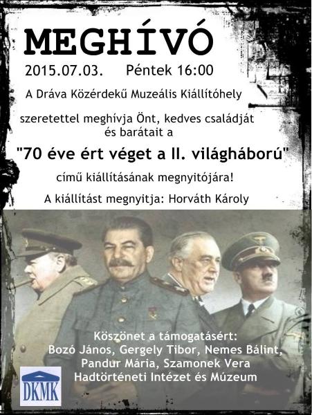 II. világháborús kiállítás Barcson