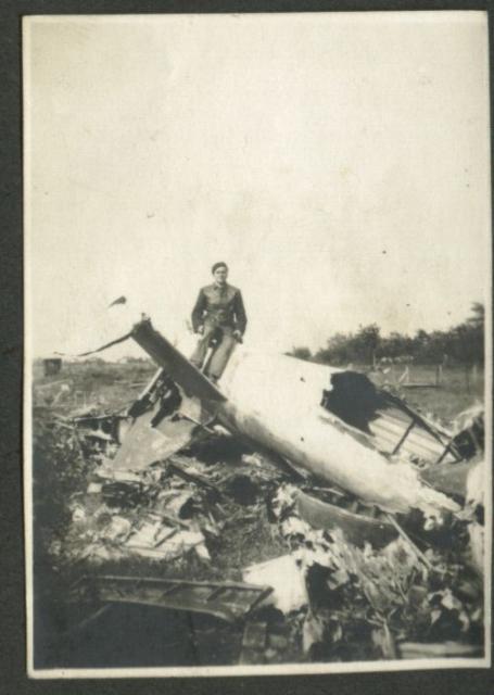 A Rózsafánál 1941. április 7-én lelőtt jugoszláv Blenheim roncsa
