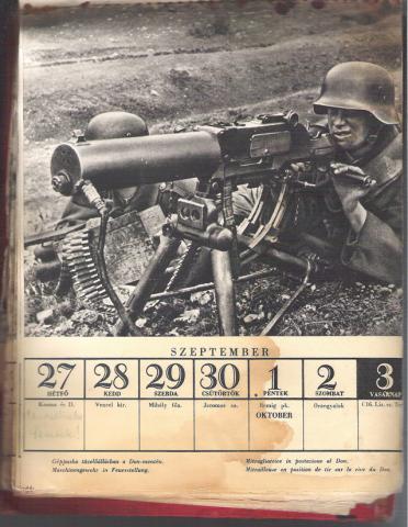 Doni naptár 1943 szept-okt