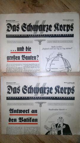 Das Schwarze Korps - az SS hivatalos lapja