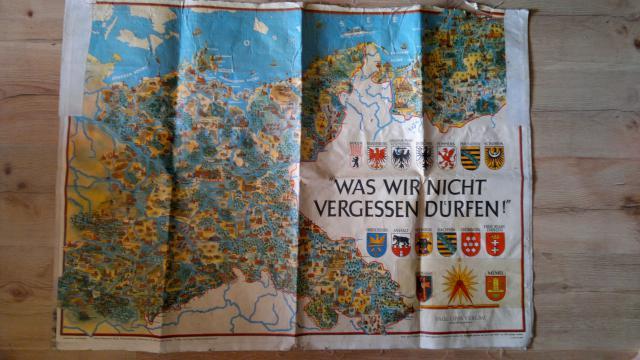 """Német túrista térkép """"cselesen"""""""