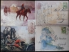 Magyar huszárok festményeken -  I. világháborús képeslapok, lomtalanításból