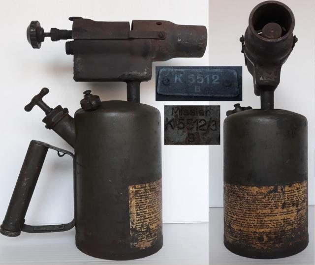 Missler K 5512/3 B – egy II. világháborús német benzinlámpa
