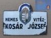 Egy vitéz magyar katona névtáblája
