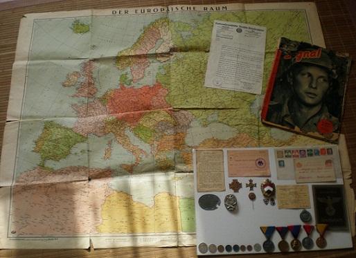 1944-es német térkép
