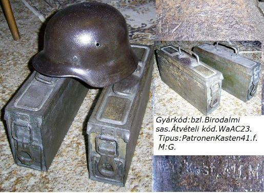 MG rakaszok német sisak kíséretében!