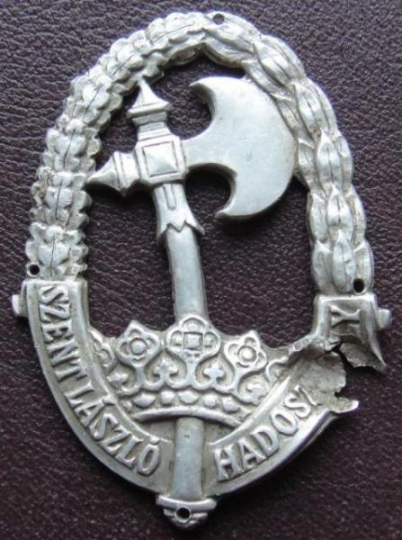 Béres Béla hadapród őrmester jelvénye