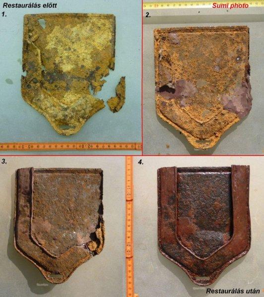 Gyalogsági ásó tok fémből az első világháborúból a Kárpátokból
