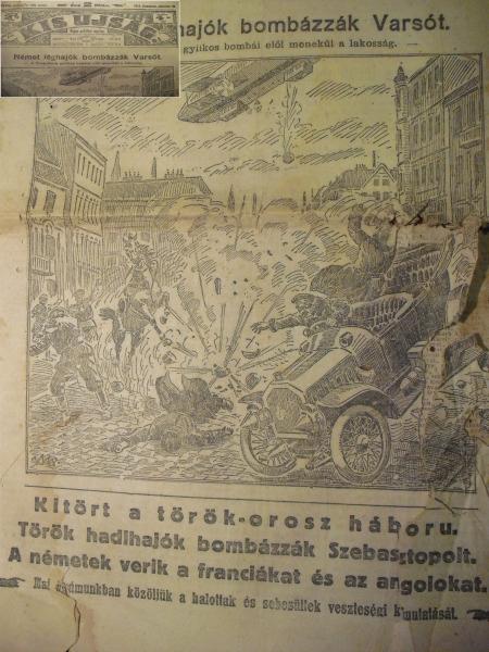 """""""Kitört a török - orosz háború"""" (KIS UJSÁG 1914. 10. 21.)"""