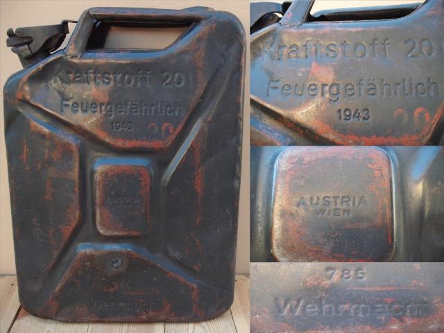 Wehrmacht 20 l-es üzemanyagos kanna: Made in Austria