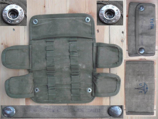 Amerikai katonai sebészeti eszközöket tároló vászontok