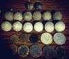 Német gombok és pénzek a frontvonalról