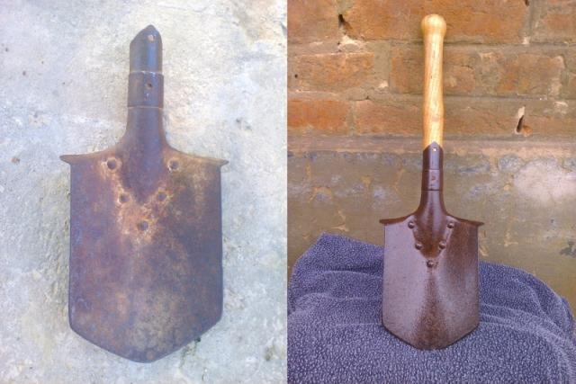 1910m ásó és egy kis törődés
