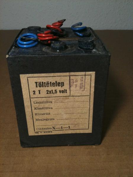 A TBK-1-es telefonkészülék eredeti telepe
