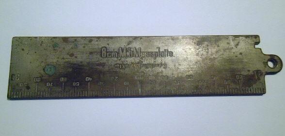 8 cm M5 Messplatte