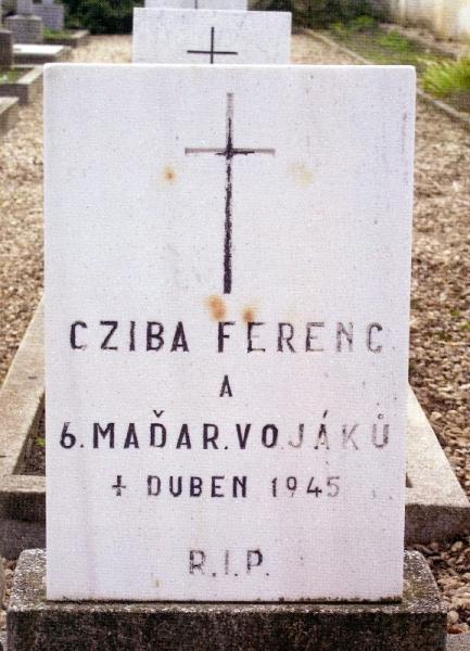 Magyar honvédek sírja Csehországban